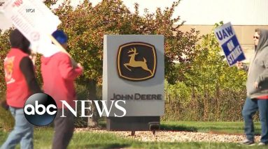 ABC News Live: John Deere workers on strike for 2nd day in a row