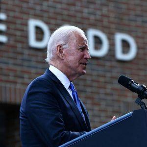 President Biden Gives Remarks At Dedication Of Dodd Center For Human Rights