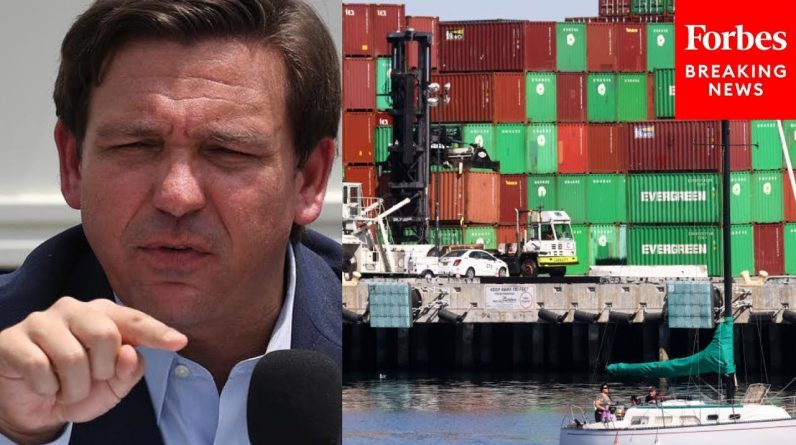 JUST IN: DeSantis Promotes State's Ports Of Entry To Address Supply Chain Crisis