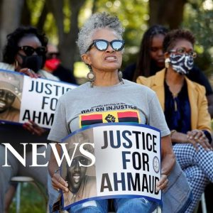 Arbery jury selection, Olympic protest, ash clean up; World in Photos; Oct. 18