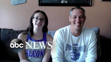 Feel good Friday: Father-daughter duo's school spirit