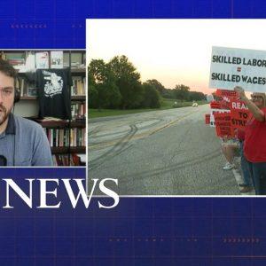 John Deere workers on strike