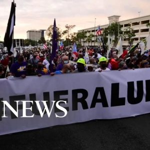 Mass protests break out in Puerto Rico over energy crisis