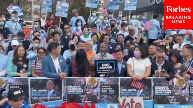Eric Adams Urges Fight Against Asian Hate With Asian-American Leaders At Rally In Flushing, Queens